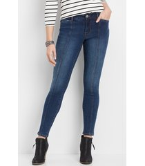 maurices womens denimflex™ medium wash front seam jegging blue