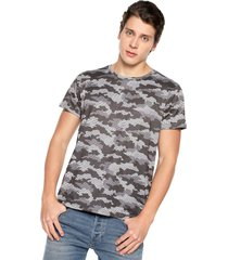 camiseta de hombre rachid kioto 110475 sublimada camuflada  gris y blanca
