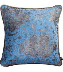 błękitno-beżowa poduszka dekoracyjna gold