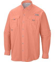 camisa hombre bahama ii ml coral columbia