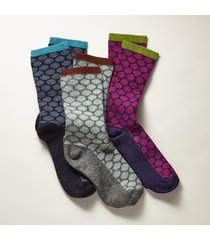 honeycomb socks, set of 3