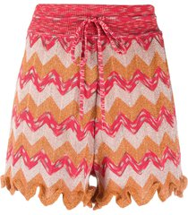 m missoni relaxed woven shorts - orange