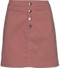 button up twill skirt kort kjol röd calvin klein jeans