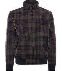 fred perry check harrington jacket   black   j2566-102