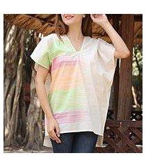 cotton tunic, 'distant horizons' (india)
