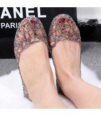 sandalias mujeres zapatos de gelatina planos de verano ahuecados