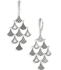 lagos signature caviar pagoda triangle drop earrings in silver at nordstrom