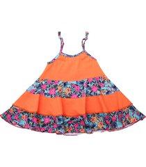 vestido naranja cante pido bailarina tropical