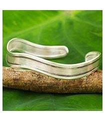 silver cuff bracelet, 'karen season' (thailand)