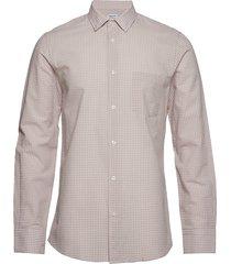 m. tim seersucker check shirt overhemd business roze filippa k