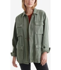 women's line up military inspired jacket