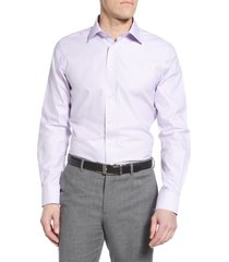 men's david donahue luxury non-iron trim fit dress shirt