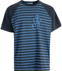 j.w. anderson anchor stripes t-shirt