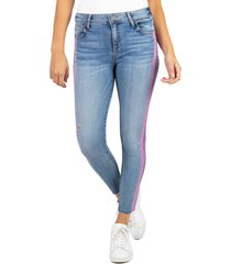 women's kut from the kloth connie high waist side stripe ankle skinny jeans