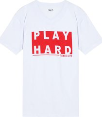 camiseta m/c con screen play hard color blanco, tallal
