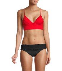 bcbgmaxazria women's underwire bikini top - red - size 6