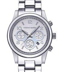 reloj mujer hannah martin 1038 - plata