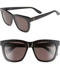 women's saint laurent 55mm sunglasses - black/ gold