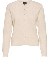 alina cashmere blend knitted cardigan stickad tröja cardigan beige lexington clothing