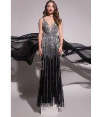 akira black label its not a dream full stone maxi gown