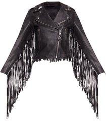 fringed biker jacket