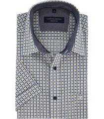 korte mouwen overhemd casa moda printje navy