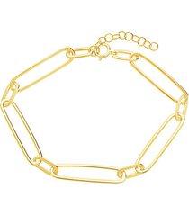 goldplated paper clip chain link bracelet
