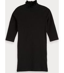 scotch & soda ribgebreid t-shirt met hoge hals