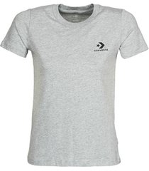 t-shirt korte mouw converse stacked logo left chest tee