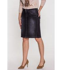 czarna spódnica jeansowa naomi