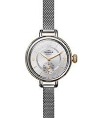 women's shinola birdy mesh bracelet watch, 34mm