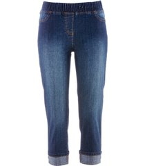 jeggings a pinocchietto in cotone con cinta comoda (nero) - bpc bonprix collection