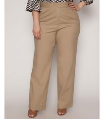calça almaria plus size pianeta pantalona bege