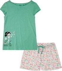 pyjamas med shorts, ekologisk bomull