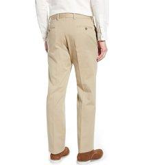men's berle charleston pleated chino pants, size 38 - beige