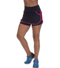 shorts saia mis blessed premium com dry fit preto - preto - feminino - poliamida - dafiti