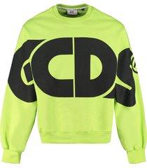 gcds cotton crew-neck sweatshirt
