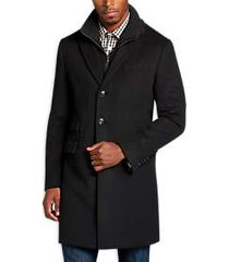 egara black herringbone modern fit car coat