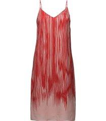 strappy print dress korte jurk rood filippa k