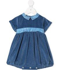 siola velvet peter pan collar shortie - blue