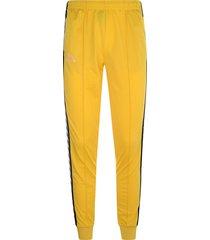 pantalon kappa astoria - amarillo mostaza/negro