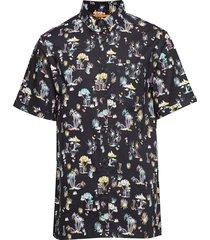 seattle skate shirt kortärmad skjorta svart superdry