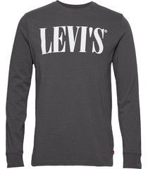 ls relaxed graphic tee 90s ser t-shirts long-sleeved grå levi´s men
