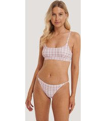 na-kd swimwear bikinitrosor med tunna band - pink