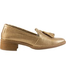 zapato flecos dorado san basilio