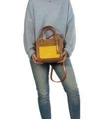 bolso kakki-amarillo colombian bags lucie tote mediano