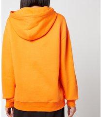 holzweiler women's classic hanger hoodie - orange - l