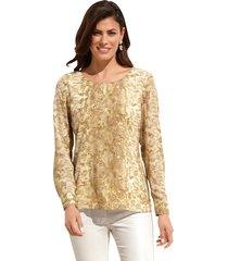 blouse amy vermont beige::goudkleur