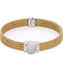 alor women's 18k white gold & diamond bracelet