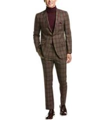 paisley & gray slim fit suit separates coat olive plaid